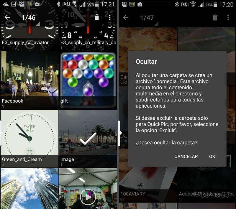 Tres galerías de imágenes que permiten esconder fotografías