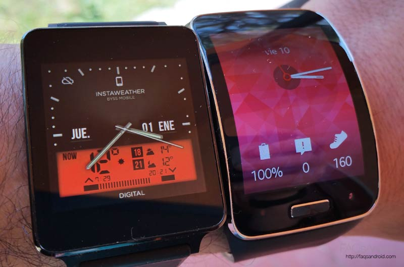 Samsung Gear S vs Android Wear