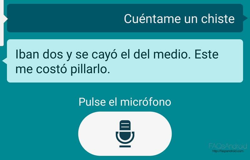 asistente por voz en Android