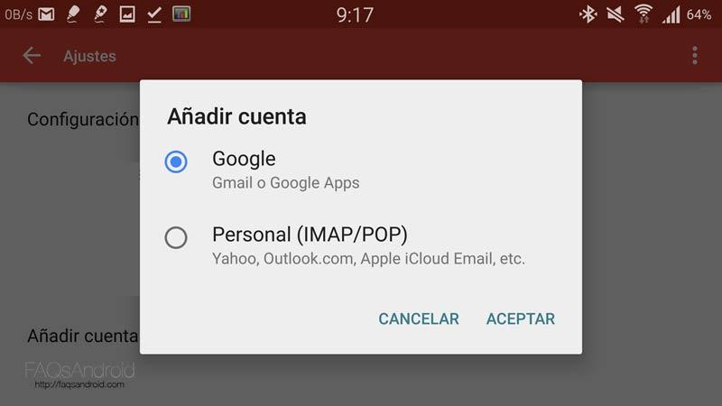 Cuentas de correo en Gmail