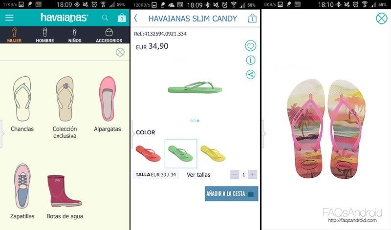 Elige tus chanclas Havaianas desde el móvil