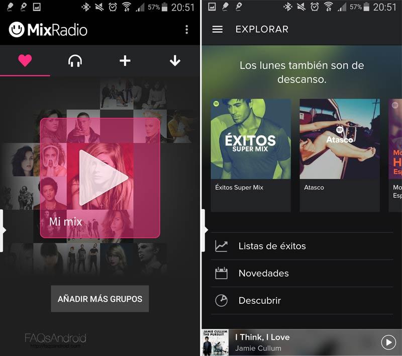 Spotify vs Mix Radio