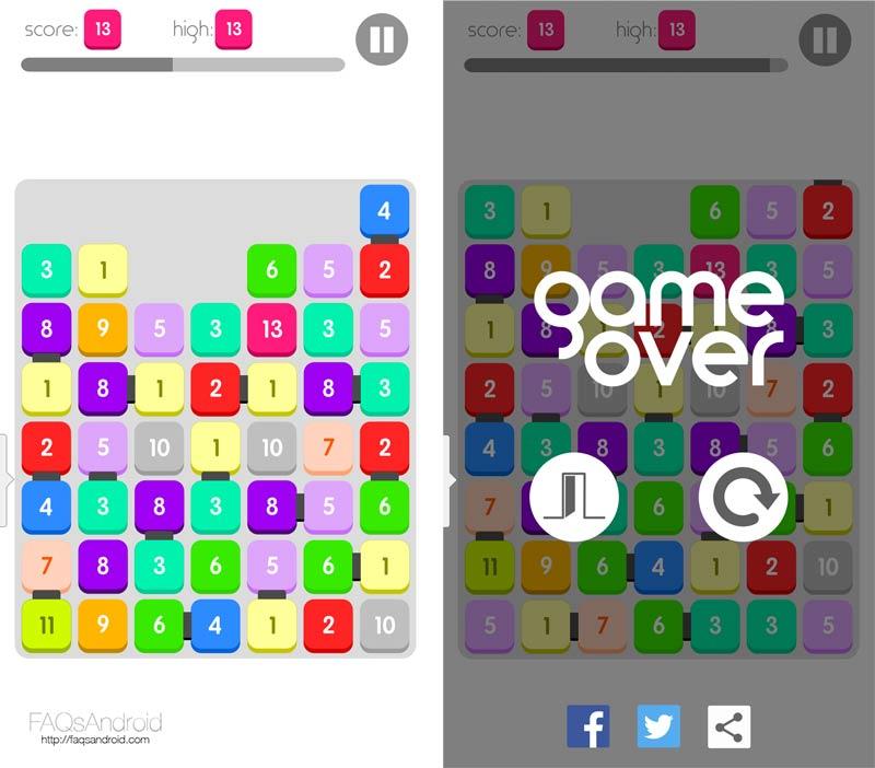 Twenty, un sencillo juego de puzles mezcla de Tetris y 2048