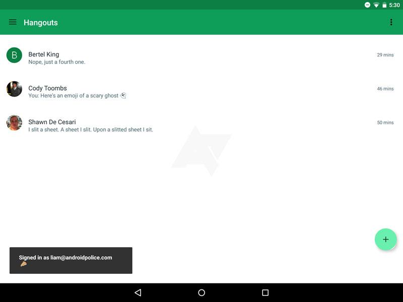 Así será Hangouts 4.0, renovado y repleto de Material Design