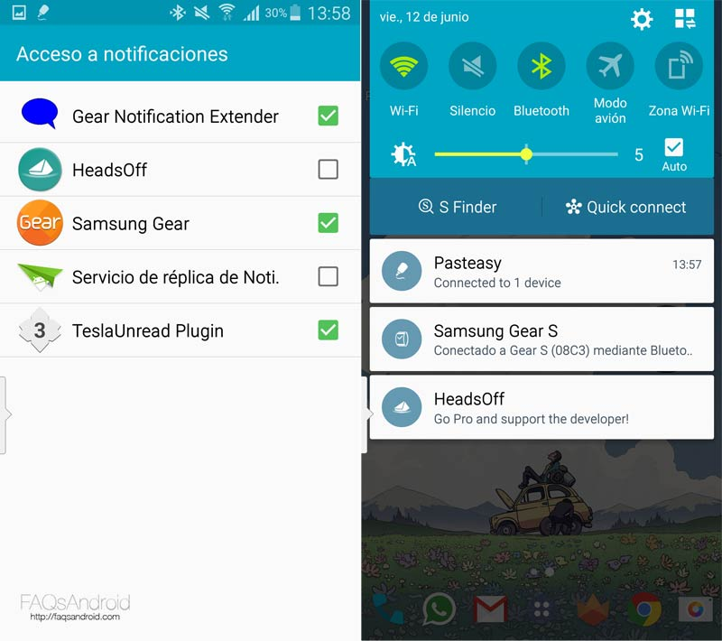 HeadsOff, elimina las notificaciones emergentes de Android Lollipop