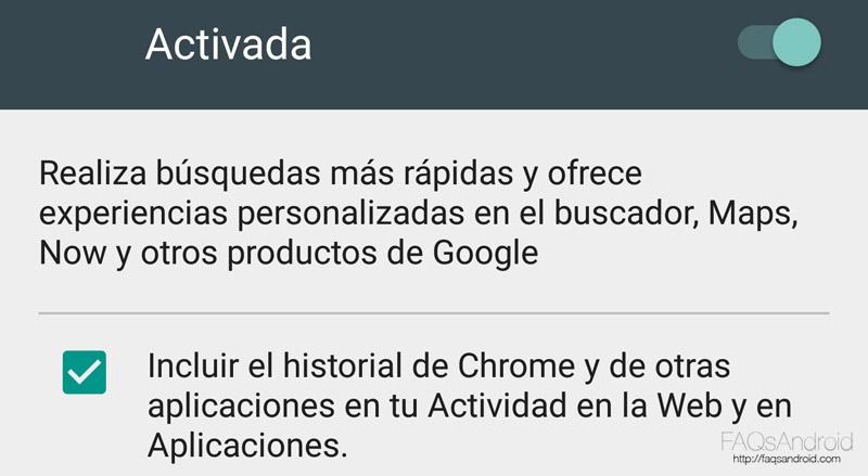 Google Now y la privacidad