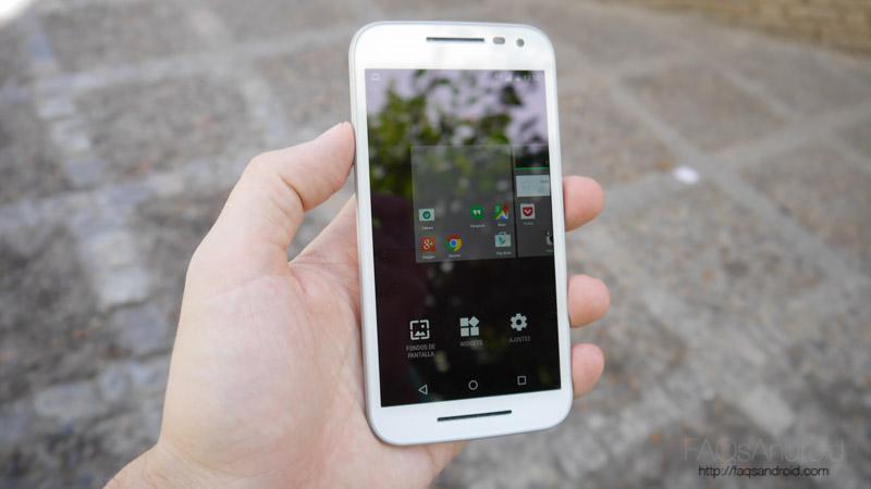 Interfaz Motorola Moto G 2015