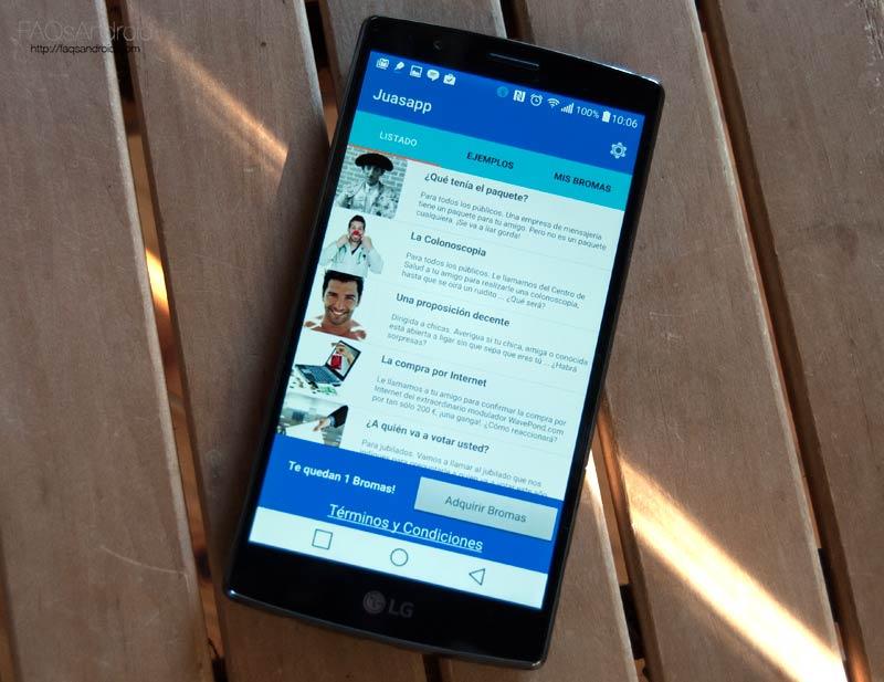 Si te gusta gastar bromas por teléfono, Juassap es tu aplicación