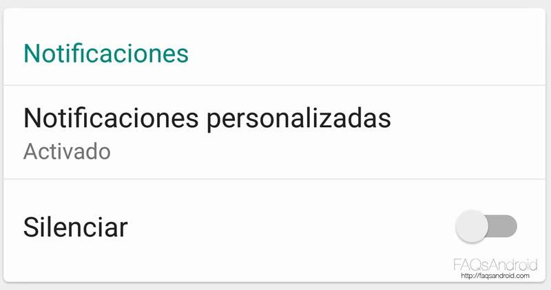 Cómo personalizar notificaciones en WhatsApp para Android