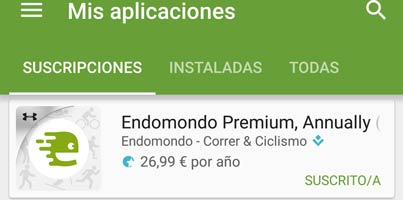 Suscripciones en aplicaciones Android