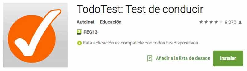 Tu Android te ayuda con los tests del carnet de conducir con TodoTest
