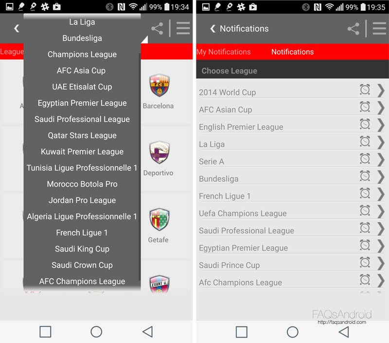 Kooora para Android