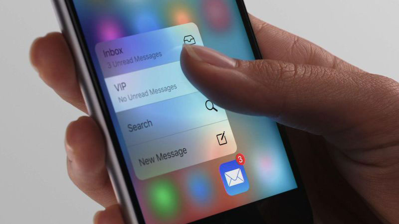 3D Touch del iPhone 6s