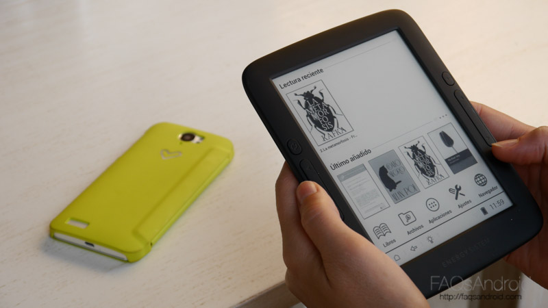 Energy Ereader Pro+: análisis de un libro electrónico android