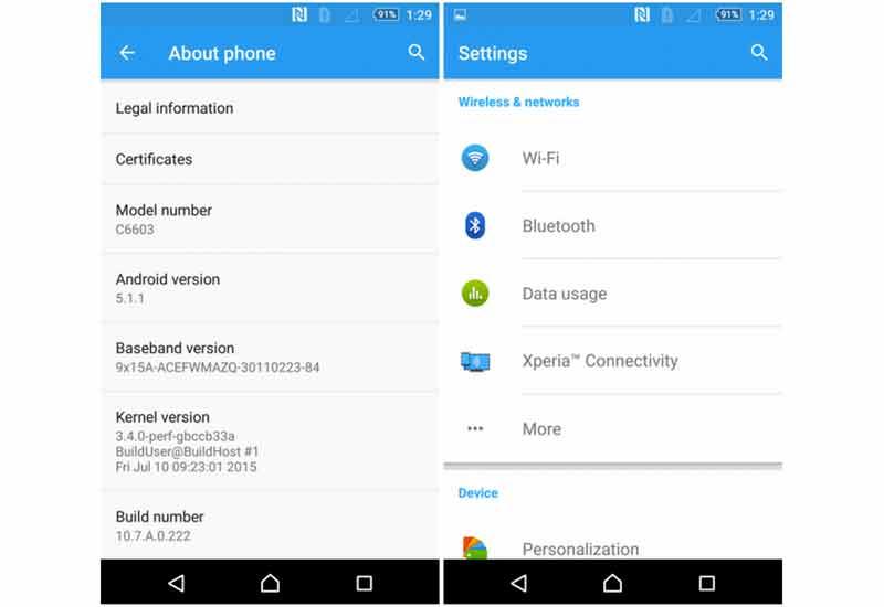 El Sony Xperia Z y sus variantes reciben Android 5.1.1 Lollipop