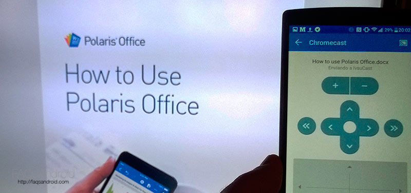 Presentaciones en la tele gracias a Google Chromecast y Polaris Office