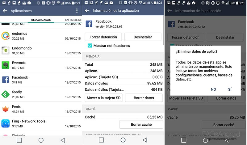 Trucos para optimizar la aplicación de Facebook para Android