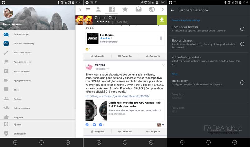 Tres alternativas a Facebook para Android