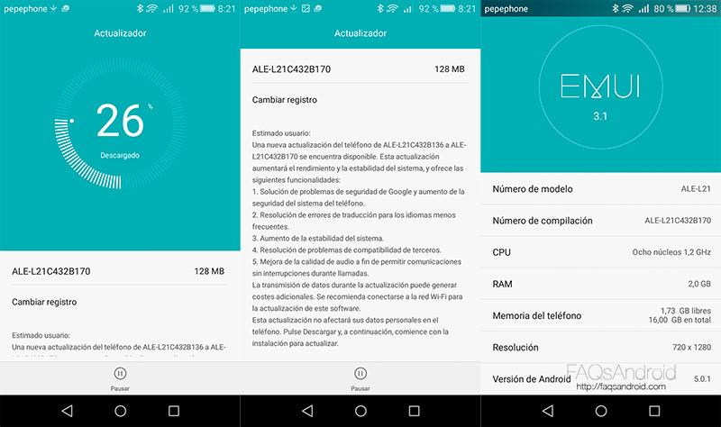 Problemas del Huawei P8 Lite solucionados en la última actualización
