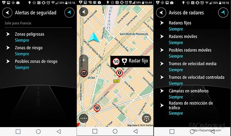 TomTom desdobla su servicio de alerta de radares en forma de app