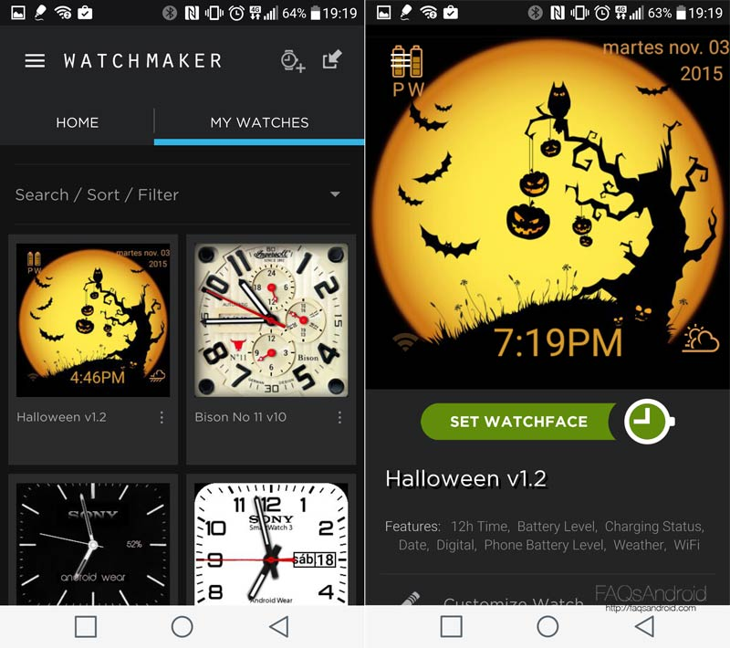 Descarga watch faces para tu Android Wear con Watchmaker y Facerepo