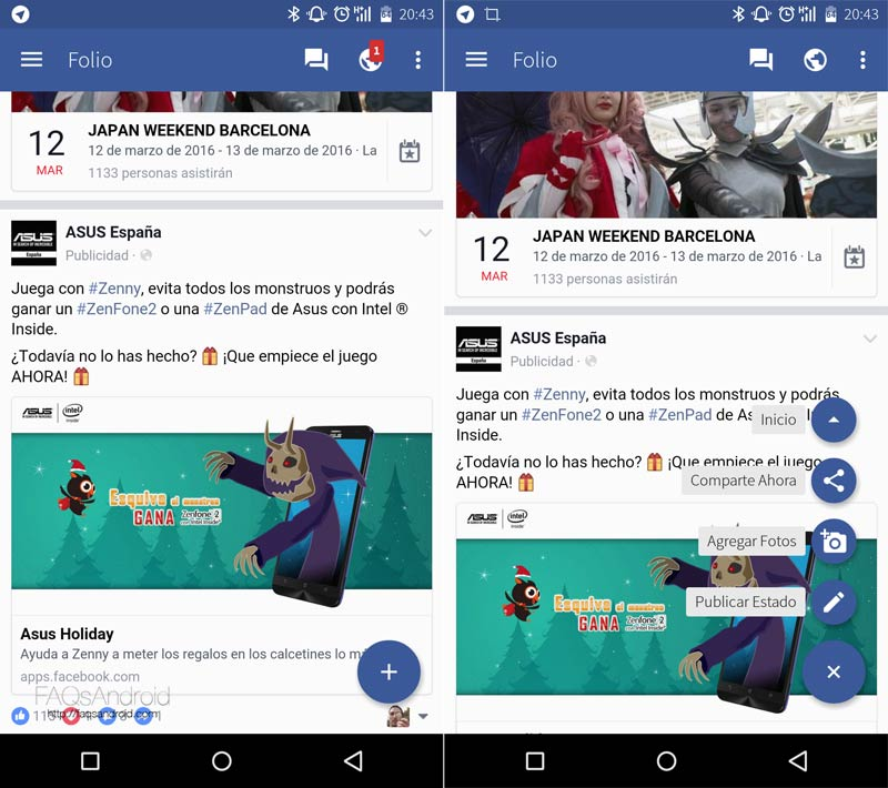Folio for Facebook, otra manera de acceder a la red social