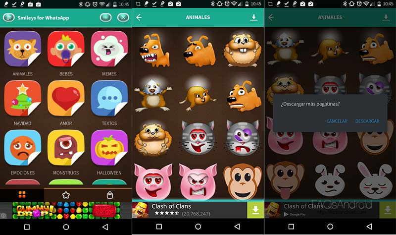 Smileys WhatsApp, envía stickers y emoticonos gigantes con un tap
