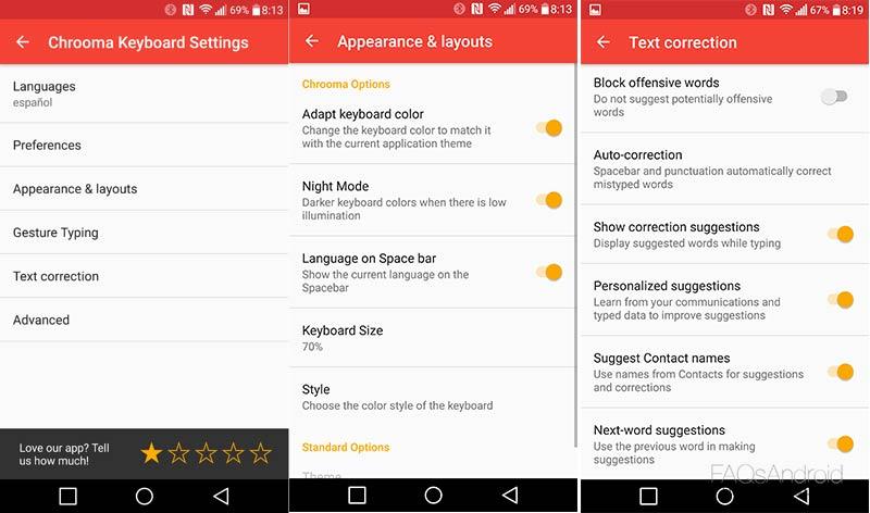 Chrooma, uno de los mejores teclados Android que puedes instalar