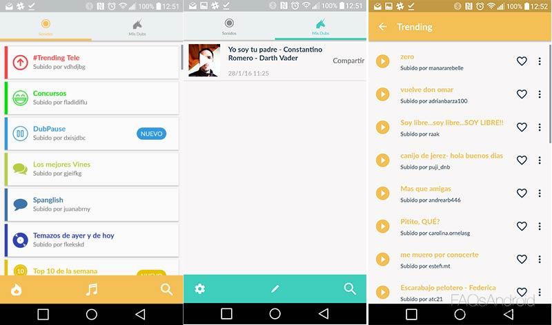 Dubsmash para Android, haz playback de canciones y comparte el vídeo