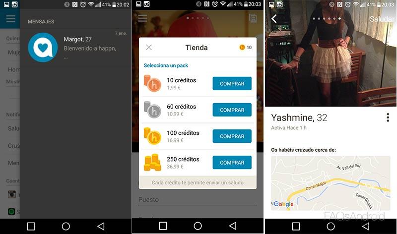Happn, un cupido en forma de aplicación Android que te encuentra pareja