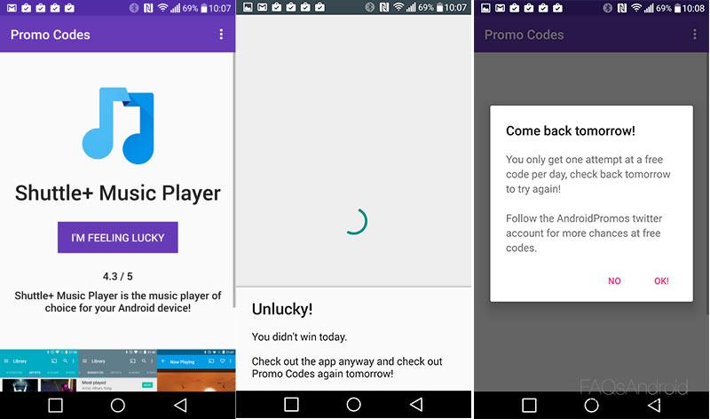 Promo Codes, una aplicación que regala aplicaciones premium. Si te toca...