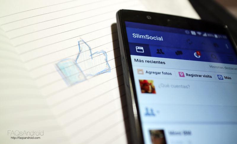 SlimSocial, Facebook para Android reducido al mínimo