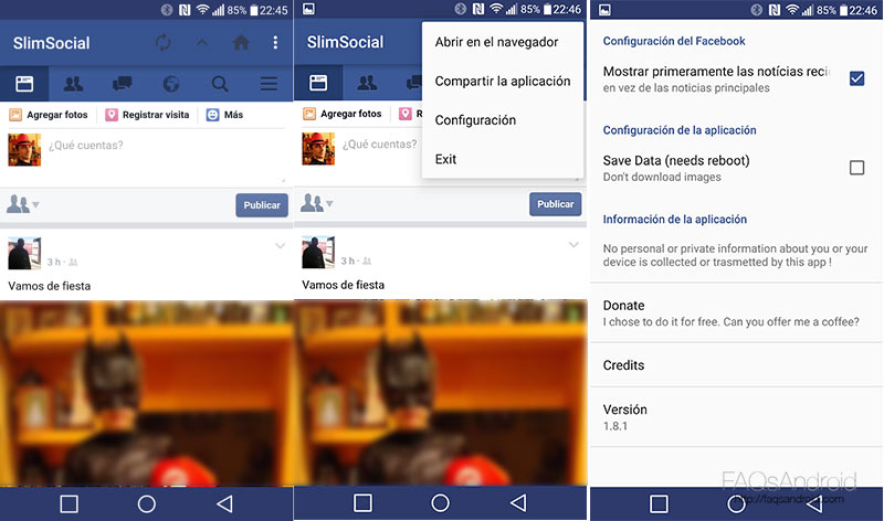 Alternativas a Facebook para Android