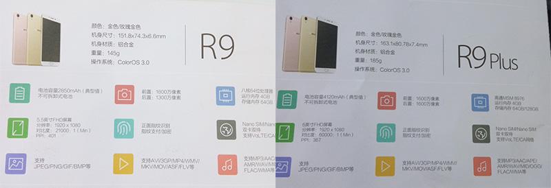 Filtradas algunas características de los Oppo R9 y R9 Plus