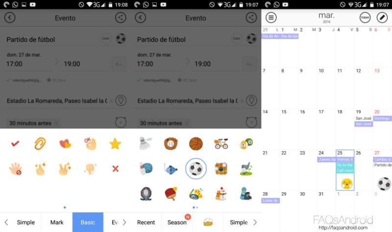 Calendario en Android SolCalendar