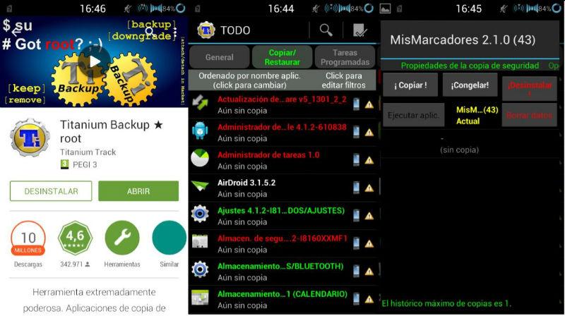 Copias de Seguridad Android Titanium