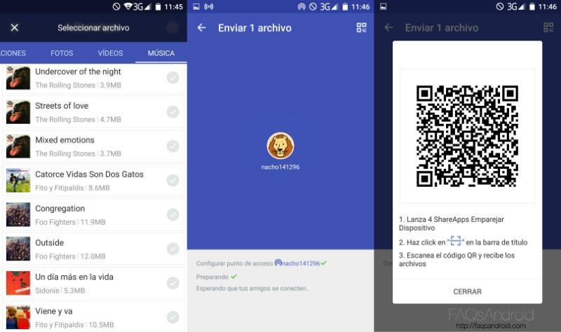 4 Share Apps Enviar Archivos