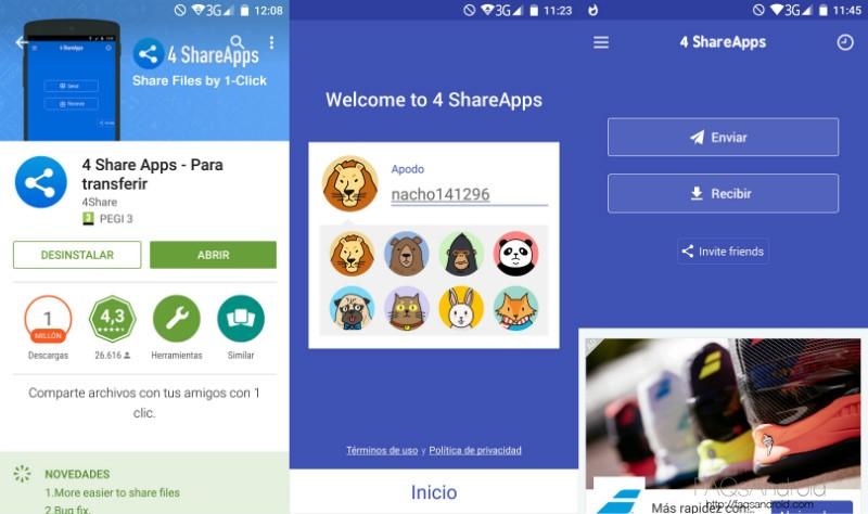 4 Share Apps Primeros Pasos