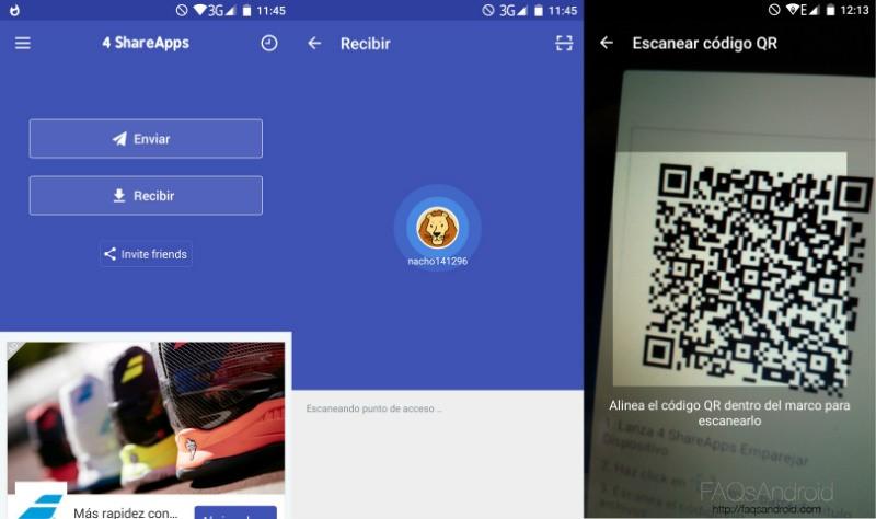 4 Share Apps Recibir Archivos