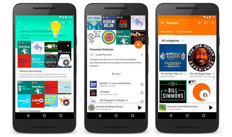 Google lanza los podcasts en Google Play Music
