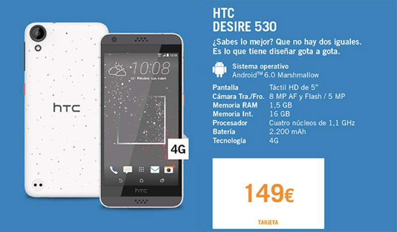 Precios LG G5 y HTC Desire 530 con Yoigo