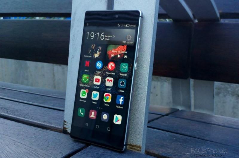 Análisis Huawei P8 Frontal