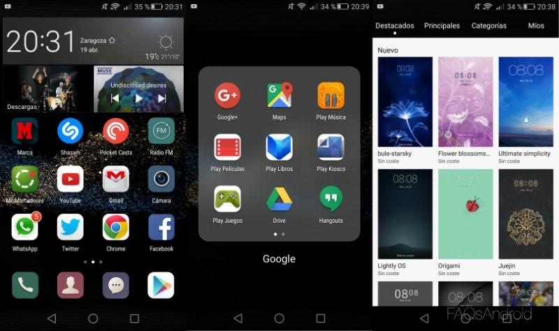 Análisis Huawei P8 Interfaz Y Tienda De Temas