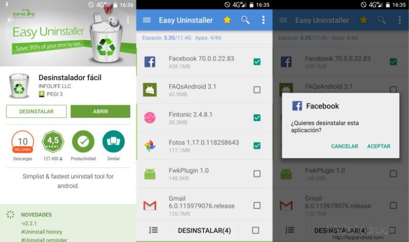 Desinstalar Aplicaciones Android Desinstalador Fácil
