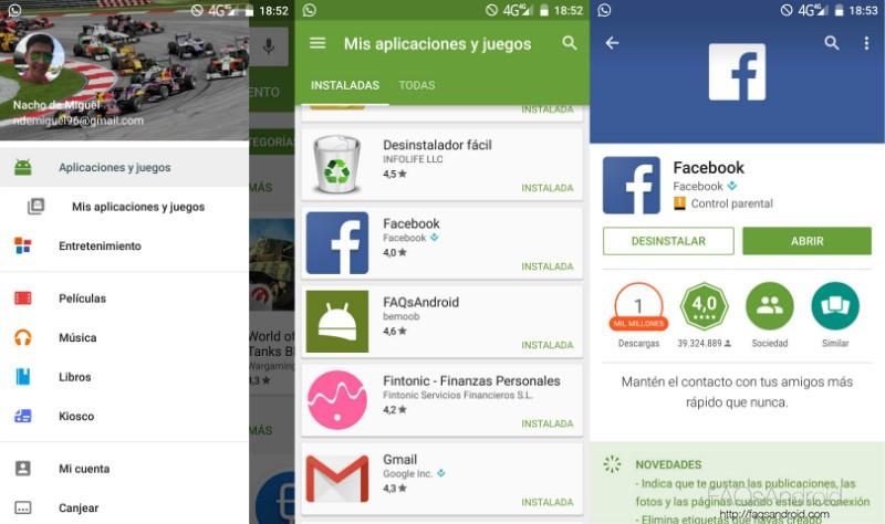 Desinstalar Aplicaciones Android Play Store