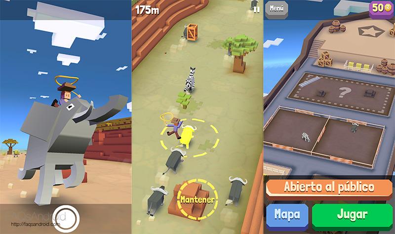 Rodeo Stampede: Sky Zoo Safari un juego surrealista y entretenido