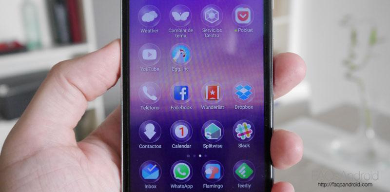 Interfaz y apps: muchas modificaciones
