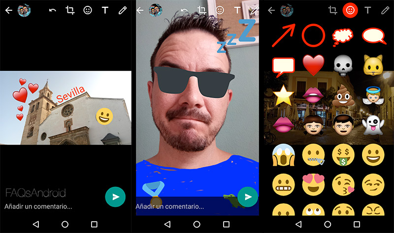 WhatsApp para Android ya permite stickers y dibujar en las fotos