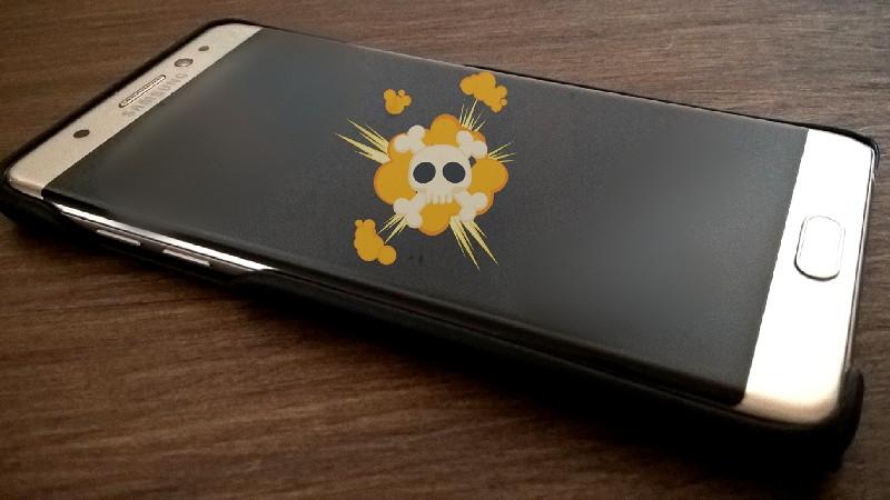 Muerte súbita del Samsung Galaxy Note 7 dorado