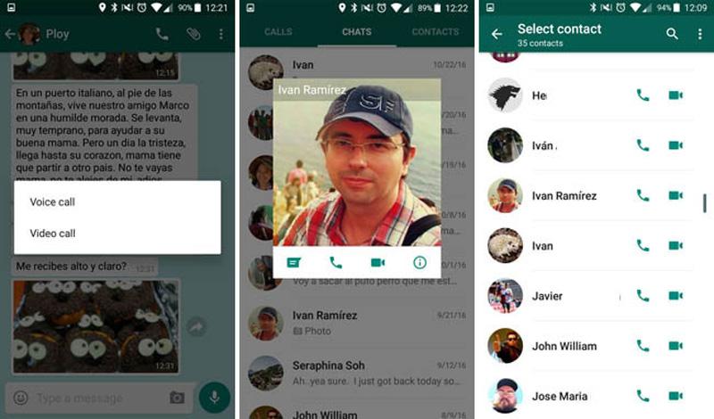 WhatsApp ya tiene videollamadas en el APK de la beta